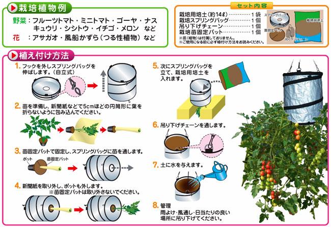 家庭菜園用の空中栽培セット