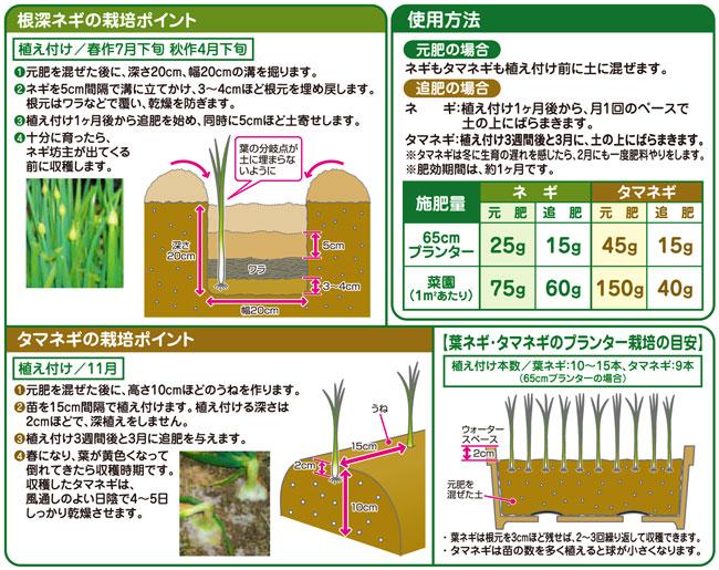 ネギ・タマネギの専用肥料