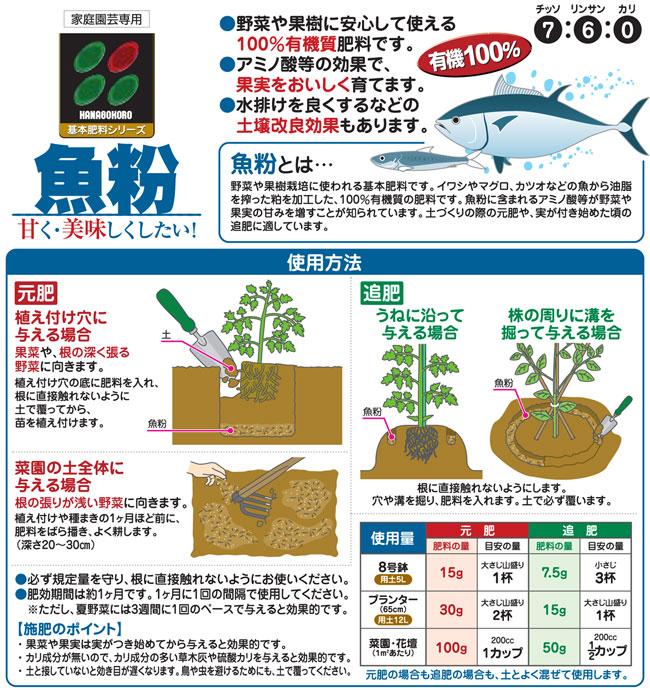 魚粉は野菜や果樹の肥料